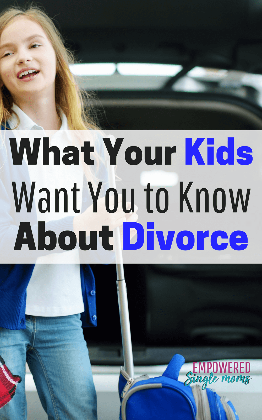 Kids growing up with divorced parents have a lot of strong thoughts and feelings. Single moms often wish they knew what they could do to help kids. Kids wish parents would help make living in two homes easier. These tips are what they want you to know. #divorce #tips #singlemoms #kids