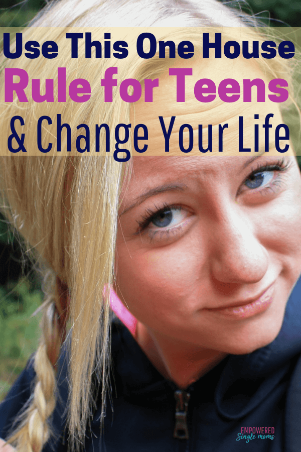 Empowered Single Moms --Tips and Encouragement for Single Parents You saved to Parenting Tips for Single Moms 22 This house rule is the best idea for parenting boys and girls. Successful parenting will be so much easier, especially for teens when you use this rule. It is especially helpful for single parents.