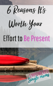 To be present is part of emotional self care