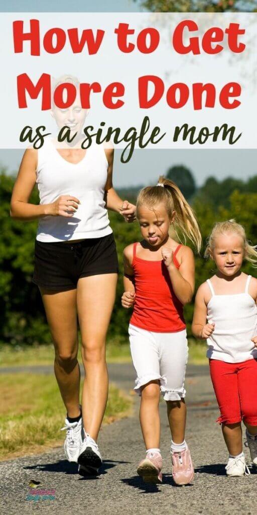 mom & girls running