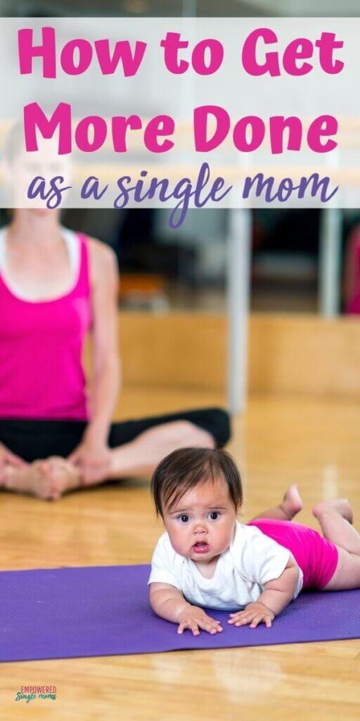 mom & baby at yoga studio