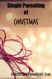 Holiday Traditions as a Single Parent.