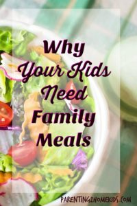 Family meals mean healthy kids.