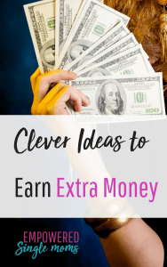 Make extra money as a single mom with these clever ideas #workathome , #side hustle