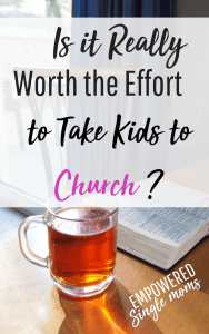 Bringing children to church is important to their spiritual formation