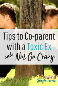 Co-parenting is difficult in the best of circumstances. When your ex is toxic it is sad, but with these tips, you can work together for the sake of your kids. #toxicex, #narcissist, #co-parent