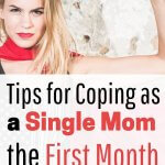 Proud single mom learning survival skills the first month. Get these parenting hacks to help you coparent peacefully and learn self care tips