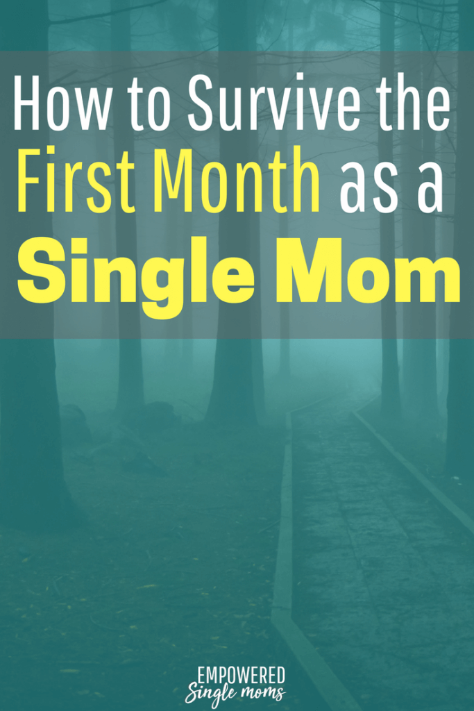 Being a single mom is hard. Get these tips on how to survive the first month.