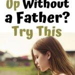 sad girl with no father