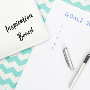 Creating a vision or inspiration board is a great tool for dreaming a new life. Use this step by step how to and helpful ideas to create a new life as a single mom. #visionboard, #singlemom, #inspiration board