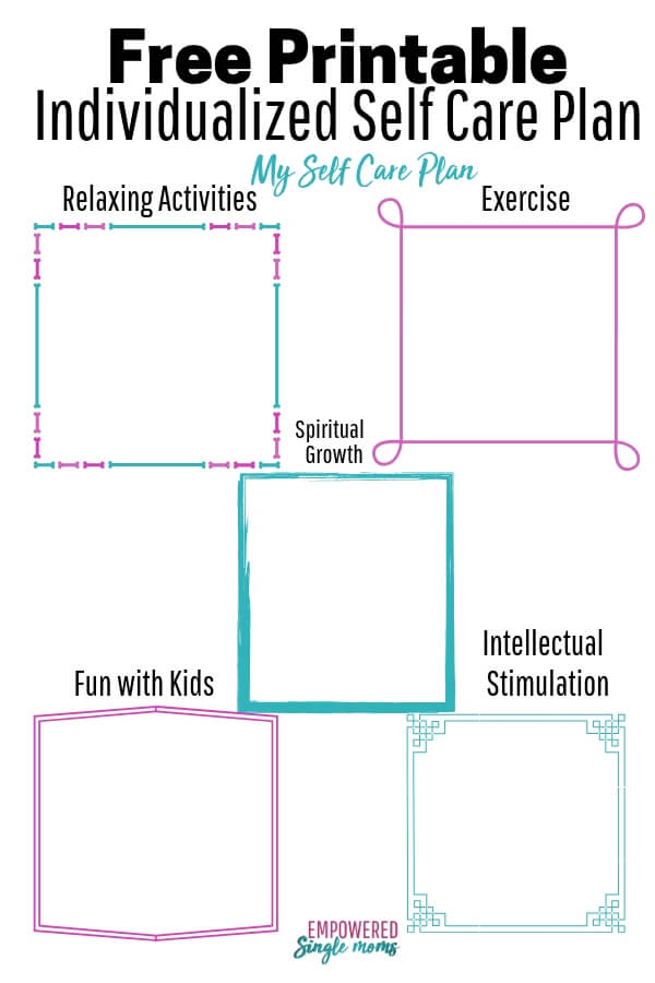 graphic regarding Printable Self Care Plan titled Create Your Individual Self Treatment Method with No cost Worksheet
