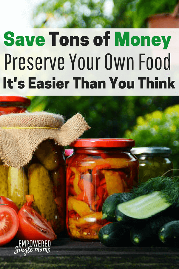 Get these simple tips to preserving food from your garden. Try canning, freezing, pickling or dehydrating. #preserving, #homestead, #frugalliving