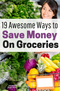 Save hundreds of dollars a year on your grocery budget. Frugal living has never been so easy or healthy as with these tips to save money. #frugalliving, #savemoney, #groceries