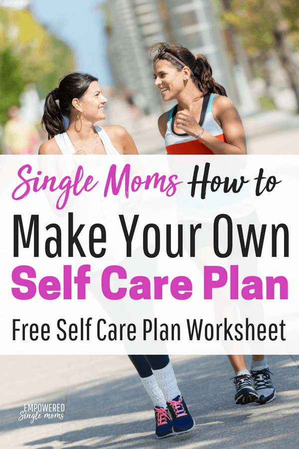 Develop your own self care plan with a free self care plan worksheet. Find out the activities that are most important and how to make time in your schedule to actually be able to do the activities. #selfcare, #singlemom, #mentalhealth