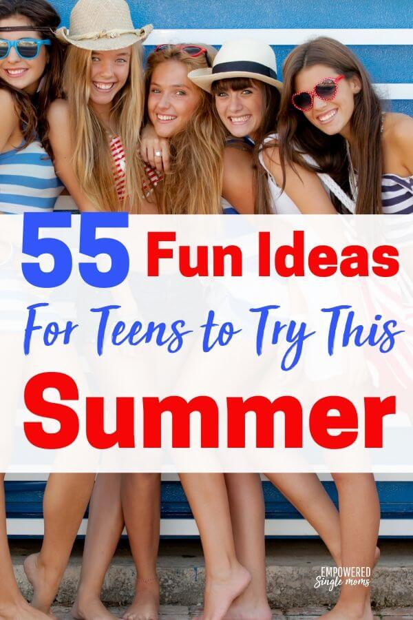 Are you wondering what to do to keep your teens busy this summer? I put together a list of over 50 awesome fun things for teens to do in the summer. There are activities to as a family to make memories, fun things for them to do alone and fun activities for them to do with friends.