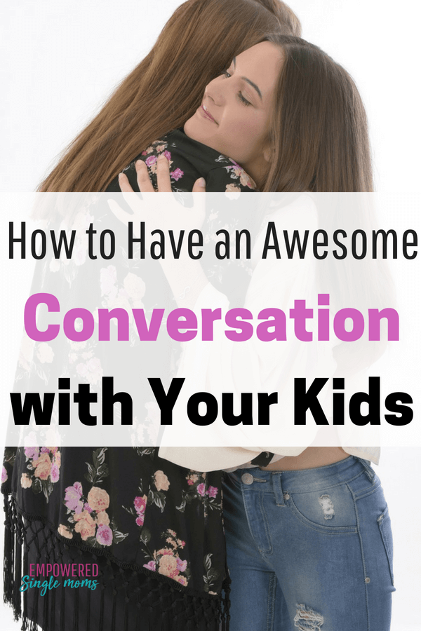 If you want to have awesome conversations with your kids use these open ended questions to get the conversation flowing with your kids whether they are preschoolers or teenagers. It will make family time more meaningful and give you a way to bond with your kids