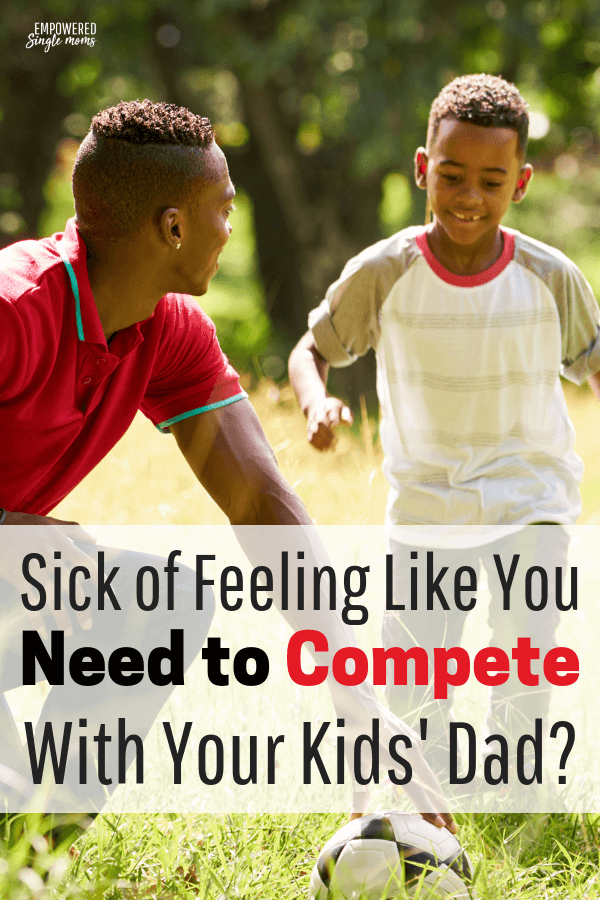 One of the problems kids of divorced parents have is when their parents compete for their love and attention. If you are in a co-parenting situation use these tips to stop competing and make life easier on your kids. #divorce,