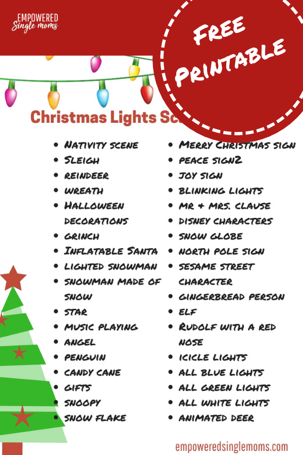 Christmas Scavenger Hunt.Christmas Scavenger Hunt With Free Printable Empowered