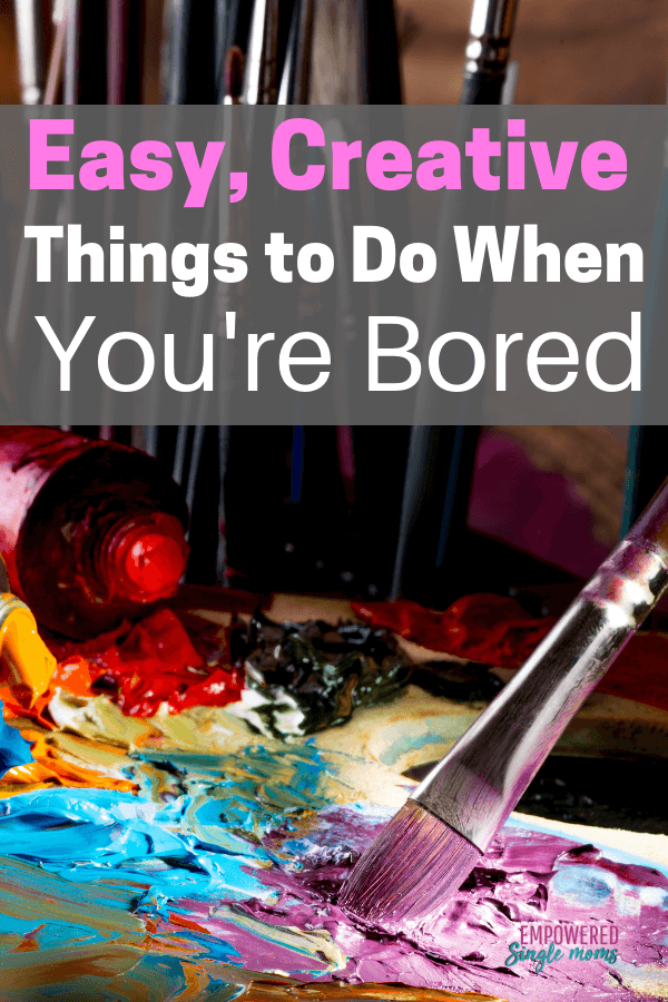Creative things to do when you are bored. These inspirational ideas will spark your creativity. DIY ideas to sell or do with your kids. Creative things to do at home.