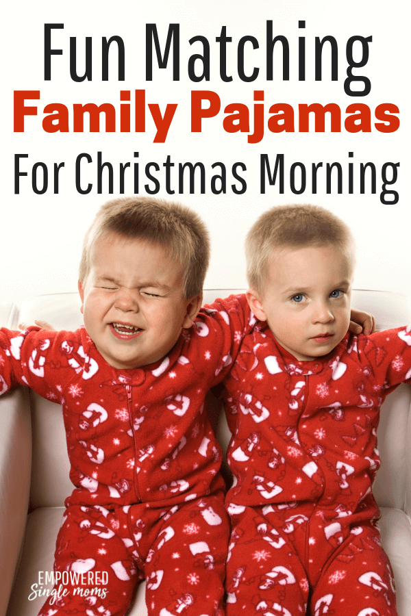 Fun matching family Christmas jammies