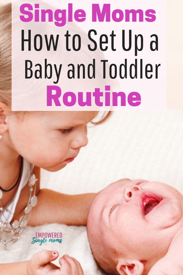 For your sanity you need a baby and toddler routine. Whether you are a stay at home single mom, a work at home mom or you leave the house to work you need to have a schedule for your toddler and newborn to reduce stress.