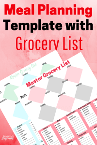 Free printable meal planning template with grocery list. Use this tool to plan weekly meals with snacks too.