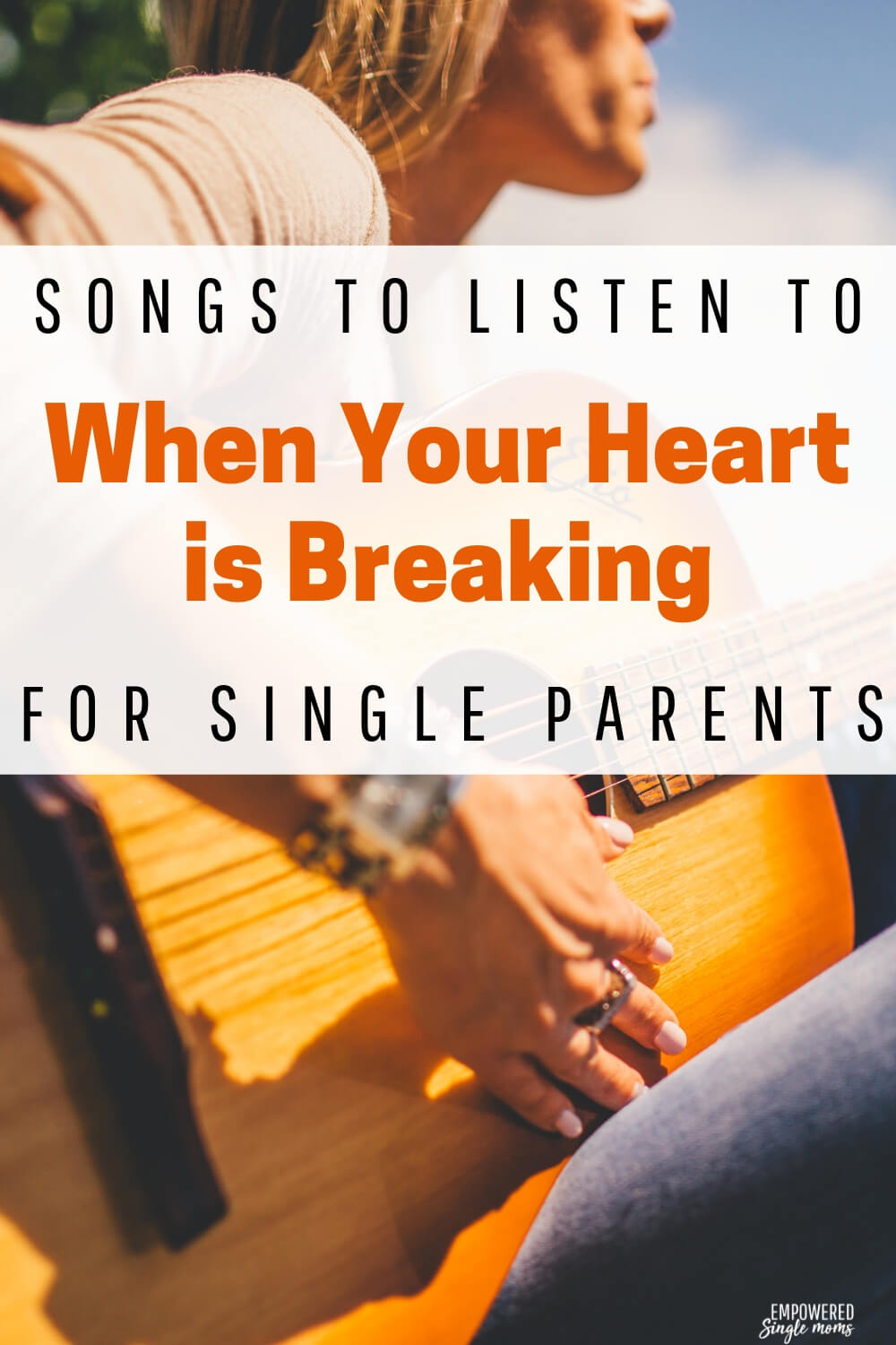 Song lyrics can help you heal from heartbreak. When you are so very sad it helps to know someone else has felt this bad. It also helps to listen to songs that inspire you to keep going and change your dreams. Find out the songs single moms listen to when they are getting over a broken heart