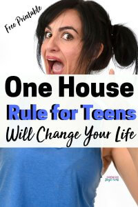 Free printable of best house rules for kids and teens. It works great when parenting both boys and girls