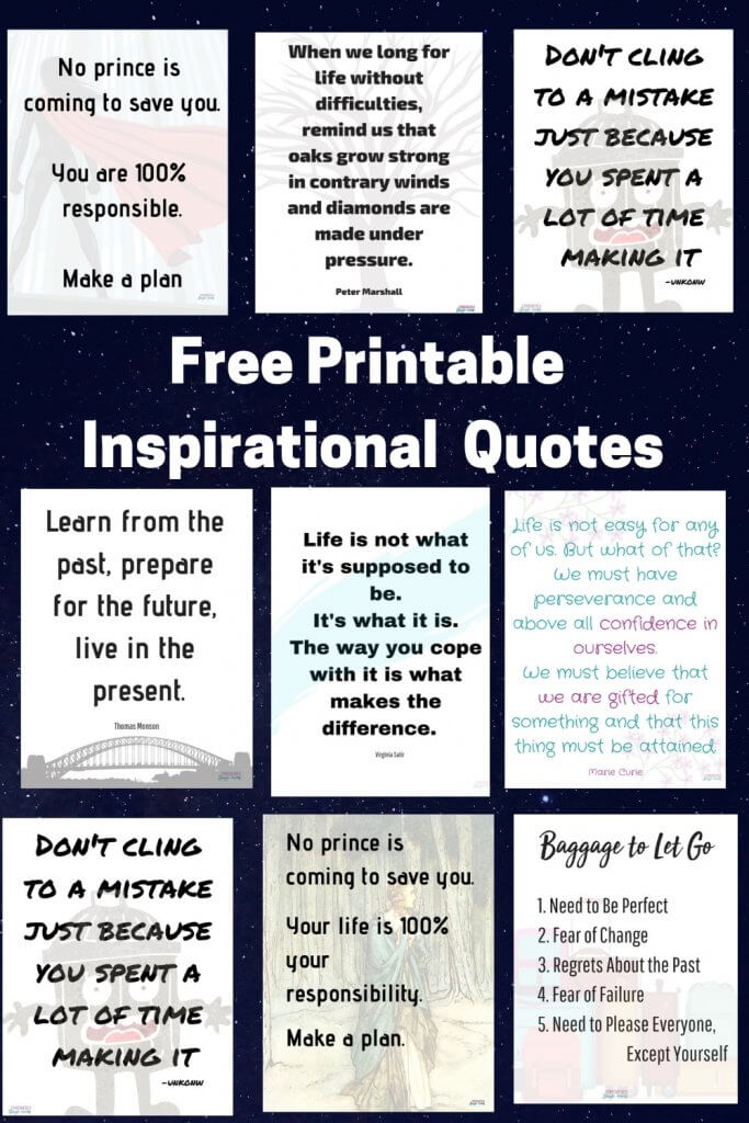 photo about Free Printable Inspirational Quotes referred to as Absolutely free Printable Inspirational Offers for Solitary Mothers