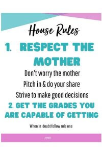 picture regarding House Rules for Kids Printable identified as A person Dwelling Rule for Young people Will Variance Your Lifetime No cost