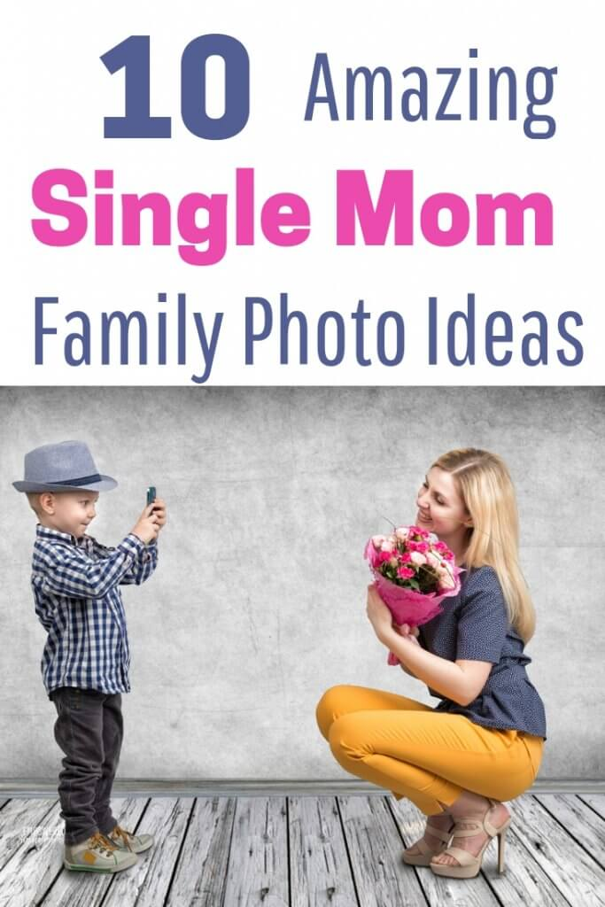 Creative ideas for your single parent family photo shoot. Make sure your family photos are beautiful with ideas on what to wear in your family pictures. Get fun tips for mother son pictures, photos of the whole family or mom and baby photos.