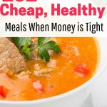 Meal planning ideas with healthy cheap food.