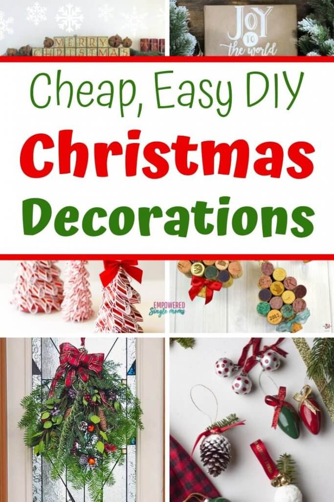 Cheap Last Minute Diy Christmas Decorations Easy To Make