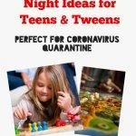 game night teens and tweens