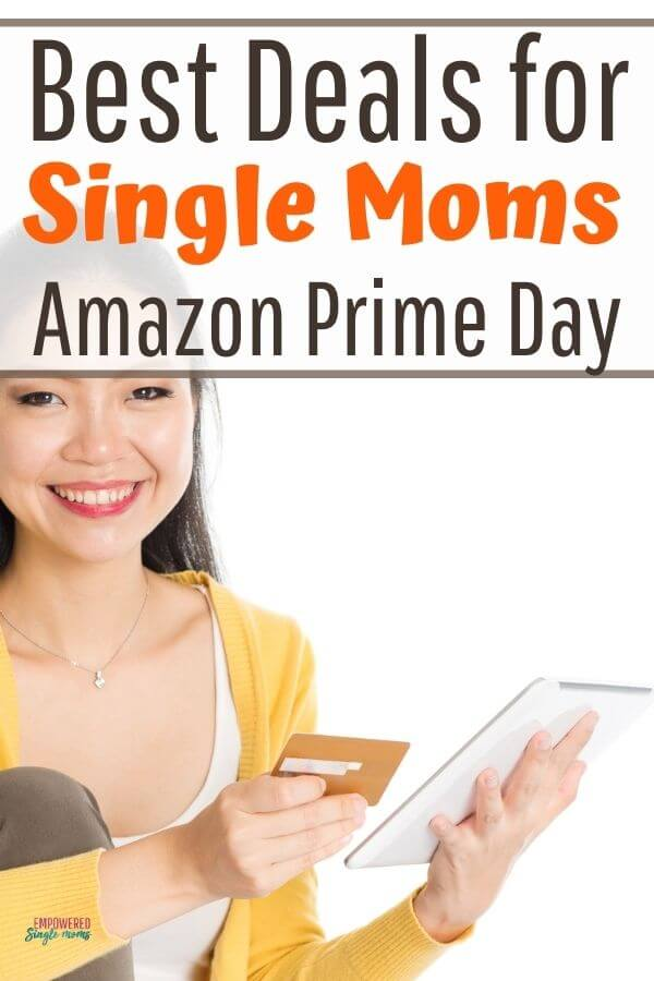 woman internet shopping for amazon prime day